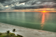 - Late Sunset Over the Gulf from Naples-HDR image made from 5 exposures from -2ev to 2ev taken using a warmtone polarizing filter