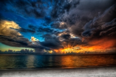 Sunset From Naples Florida