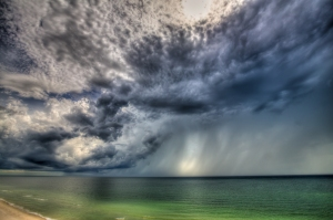 Thunderstorm Over the Gulf Of Mexico