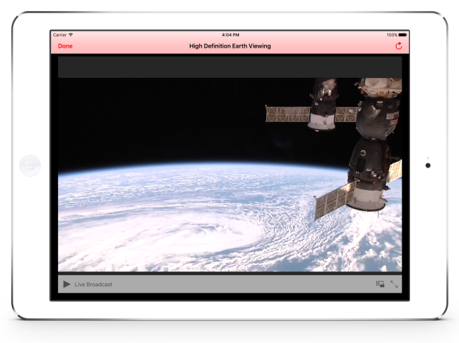 HDEV Live Video Streamed From the International Space Station in ISS Real-Time Tracker 4
